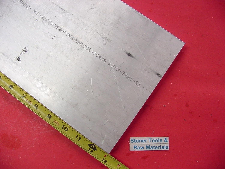 "1/"" X 6/"" ALUMINUM 6061 T6511 SOLID FLAT BAR 9/"" long 1.00/"" Plate New Mill Stock"