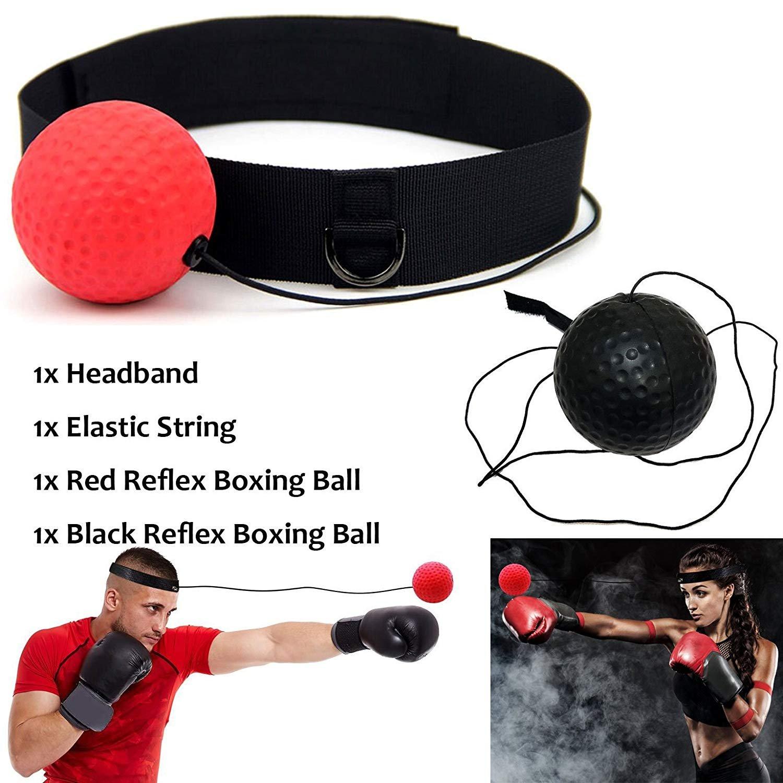 KANKOO Bola de Boxeo MMA Fight Training Velocidad de Reflexión Elastic String con Diadema Gym Equipment Super para Entrenamiento y Fitness Combat Deportes de Regalo Adecuado para Adultos o Niños