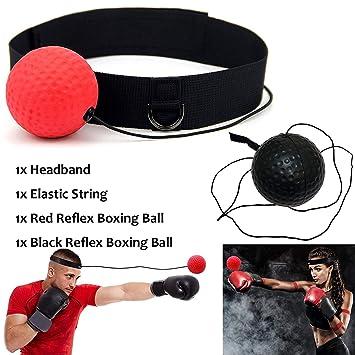 29e8d09c75 KANKOO Balle Boxe MMA Lutte Entraînement Reflex Vitesse Élastique Chaîne  avec Bandeau Gym Équipement Super pour