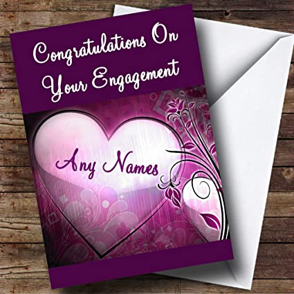 Amazon purple heart personalized engagement greetings card purple heart personalized engagement greetings card m4hsunfo