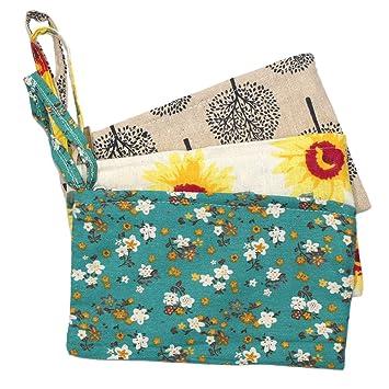 Set de 3 surtidos floral patrón Monedero cartera bolsa de ...