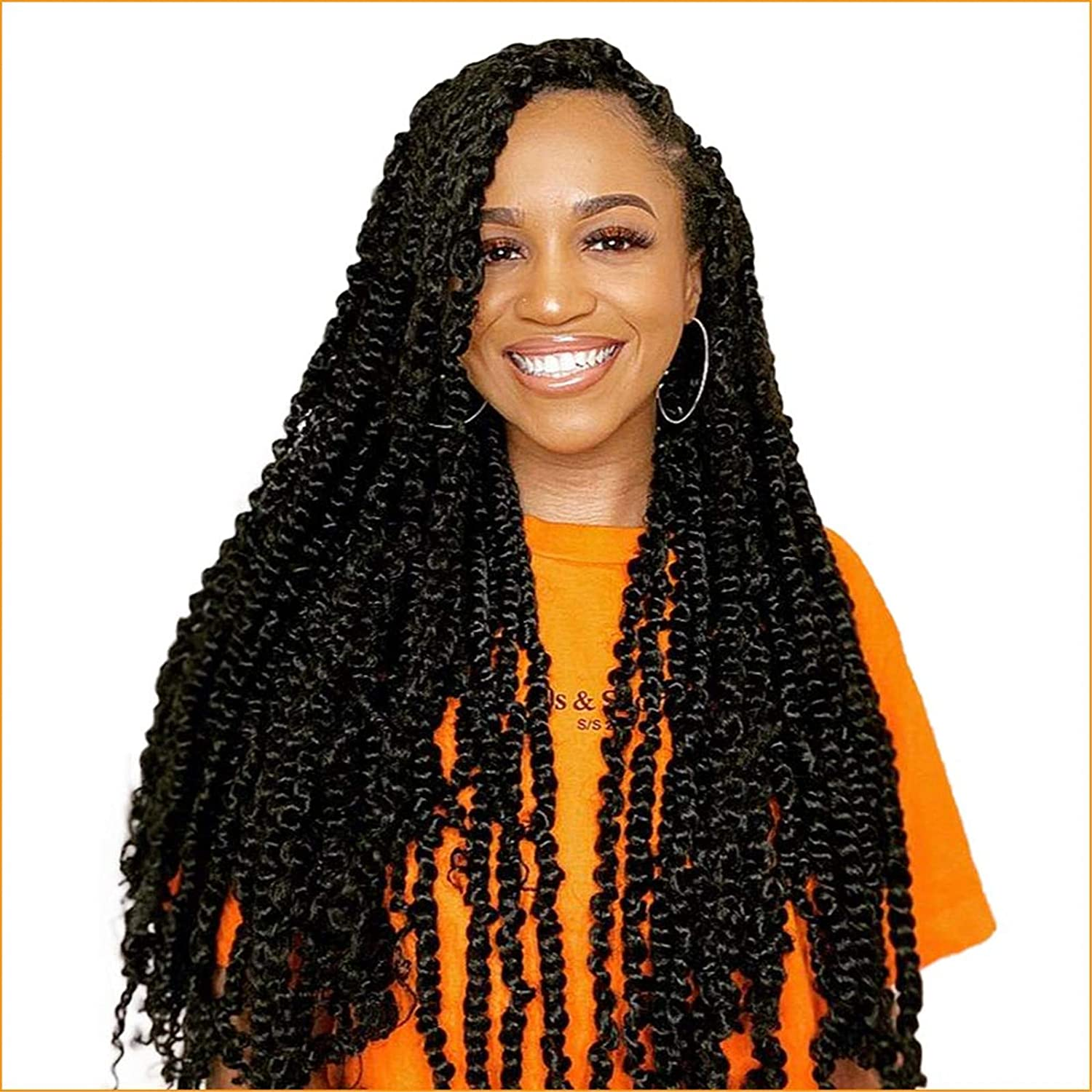 Amazon Com Toyotress Passion Twist Hair 24 Inch 7packs Natural Black Water Wave Crochet Braids Synthetic Braiding Hair Extensions 24 Inch 7packs 1b Beauty