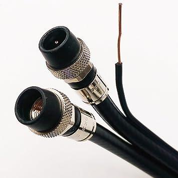125 M al aire libre Dual RG-6 cable coaxial w/suelo Messenger 3