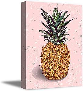 Pineapple Wall Art Print - Tropical Fruit Decor Canvas - Living Room Bedroom Home Art Decoration - 8