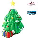 infactory Aufblasbarer Tannenbaum: Selbstaufblasender XXL Weihnachtsbaum mit animiertem Santa (Aufblasbarer Weihnachtsbaum)