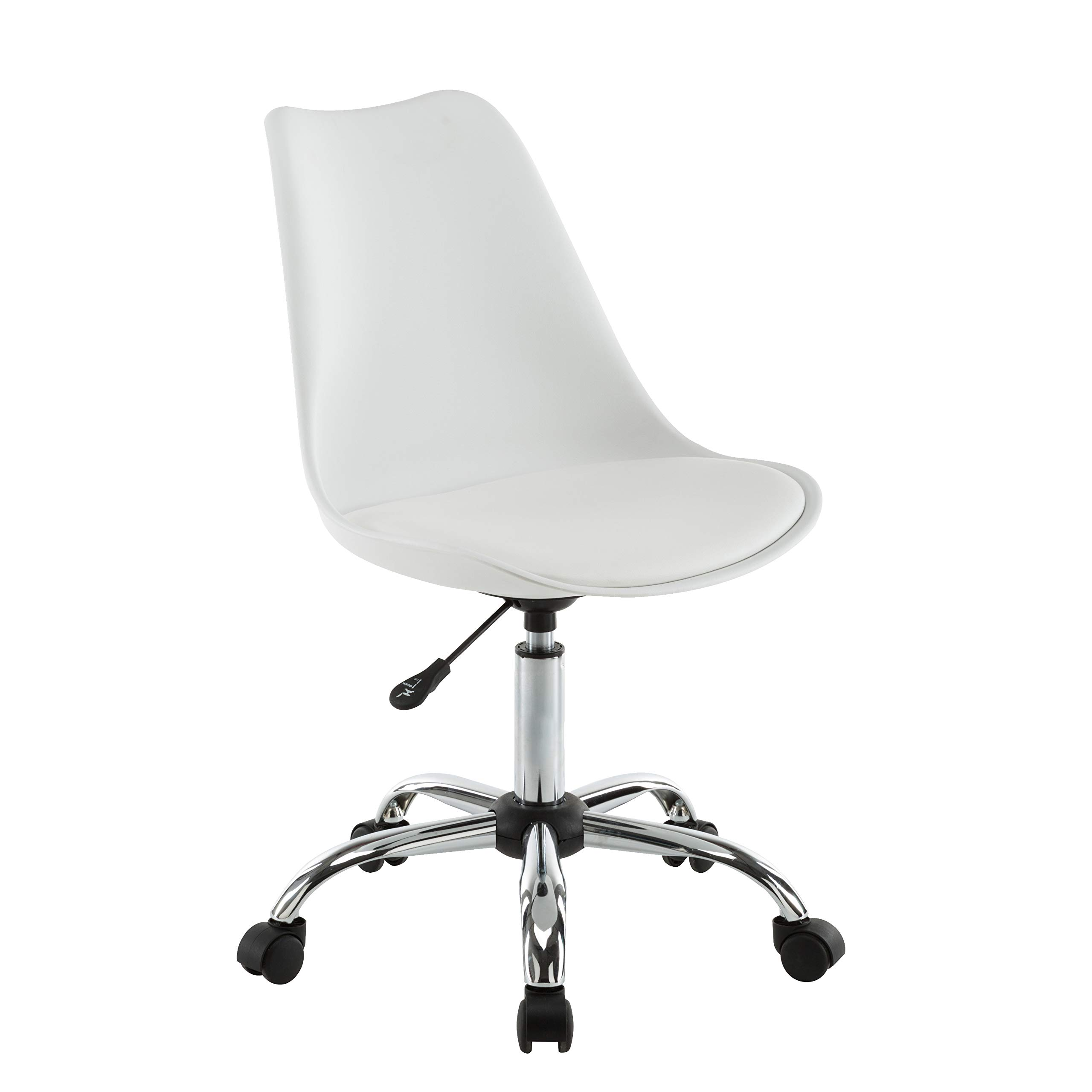 Porthos Home TFC037A WHT Teresa Adjustable Office Chair, One Size, White