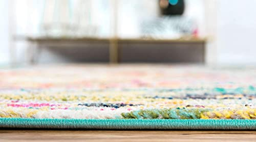 Unique Loom Vita Collection Traditional Over-Dyed Vintage Turquoise Area Rug 3 3 x 5 3