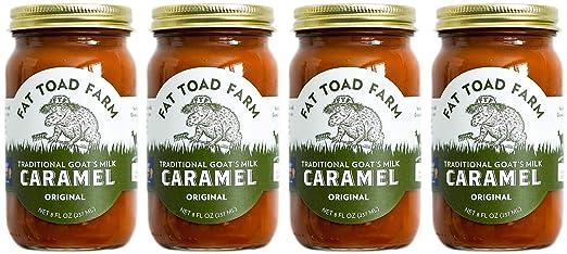 Amazon.com : Fat Toad Farm Traditional Goats Milk Caramel Sauce, Original, 8fl oz Jar, 4-Pack, Cajeta, Gluten Free... : Grocery & Gourmet Food