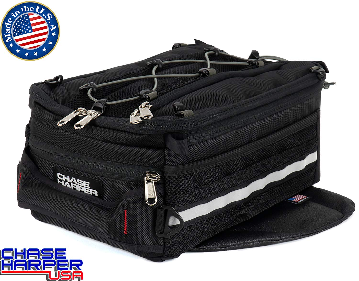Chase Harper 800M Sport Trek Black Magnetic Tank Bag - 14.9 Liters by Chase Harper USA