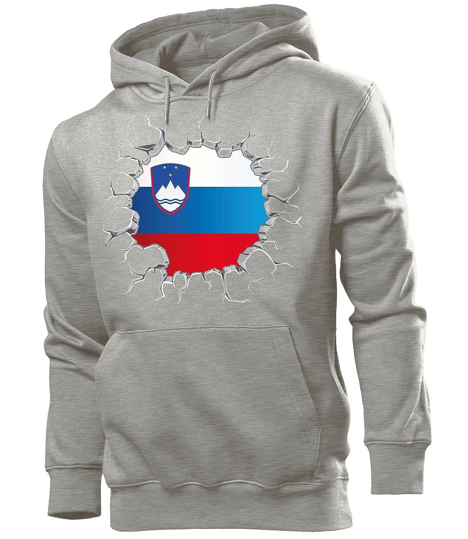 love-all-my-shirts Fussball Fanhoodie Slowenien M/änner Herren Hoodie Pulli Kapuzen Pullover Fanartikel