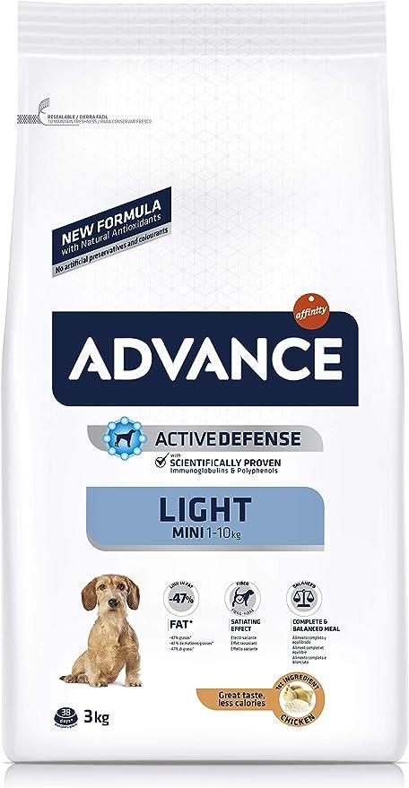 ADVANCE Light Adult Mini - Pienso Light Para Perros Adultos De Razas Pequeñas Con Pollo - 3 kg