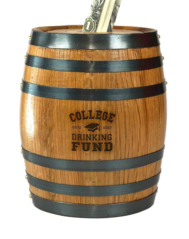 サウザンドオークスバレルCollege Drinking Fund ' Mini Oak Barrel貯金箱   B07FJL6FX5