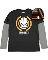 Call of Duty Black Ops III Long Sleeve Graphic T-Shirt w/ Beanie