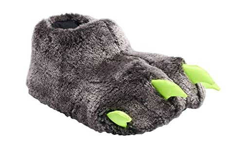 8188e64db21 Boys Girls Monster Bear Claw Faux Fur Slippers with Neon Claws (Toddler Boys  10
