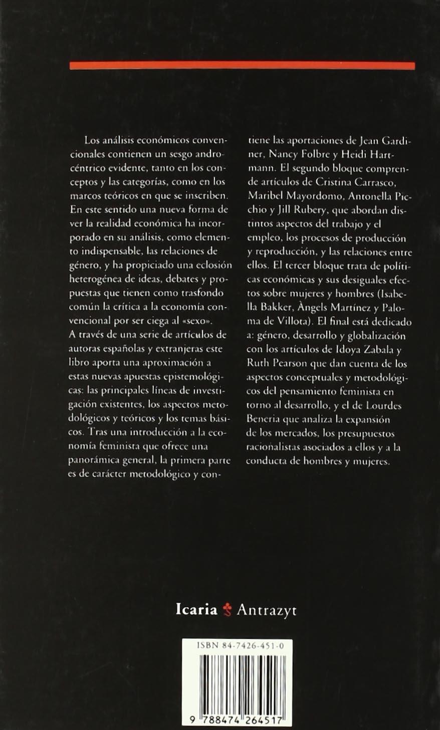 Mujeres y economía: Nuevas perspectivas para viejos y nuevos problemas (Antrazyt) (Spanish Edition): Cristina Carrasco Bengoa: 9788474264517: Amazon.com: ...
