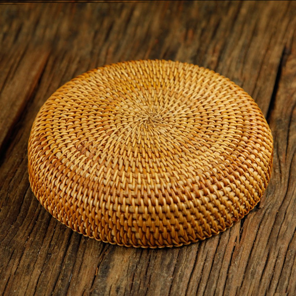 100% Handmade Weaved Storage Bin Fruit Basket Rattan Hamper Wicker Tray Weaving Rack Holder Dining Room Small Container Box Natural Decor Serving Handcrafted Bowl Organizer Serving Snack Dish Display by yaku (Image #5)