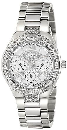 Guess - W0111L1 - Sparkling - Montre Femme - Quartz Analogique - Cadran  Argent - Bracelet Acier Argent: Guess: Amazon.fr: Montres