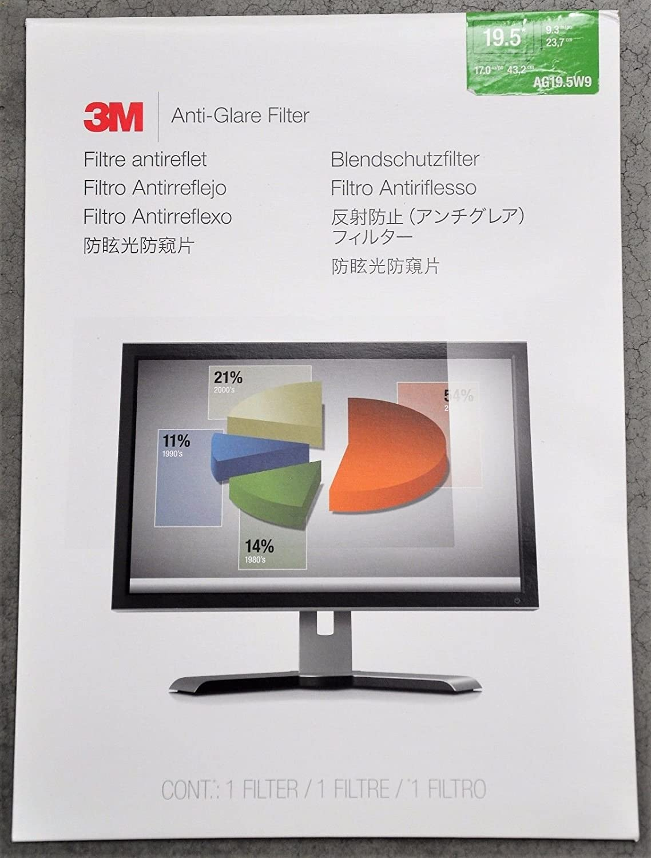 3 M Filtro antirreflejos ag19.5 W9 Filtro para Pantalla panorá mica Monitor de Escritorio LCD tá ctil de 19.5 'Compatibilidad 3M AG19.5W9