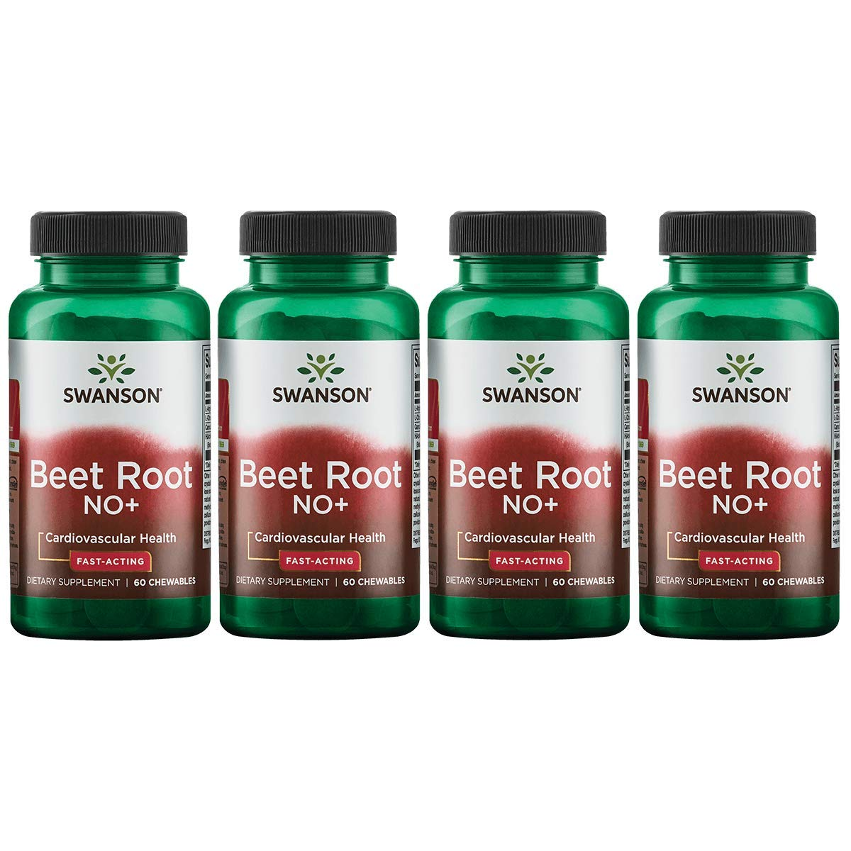 Swanson Beet Root No Fast-Acting 60 Chwbls 4 Pack