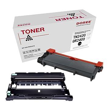 DOREE Compatible Tambor DR2400 Brother Negro + Cartucho de ...