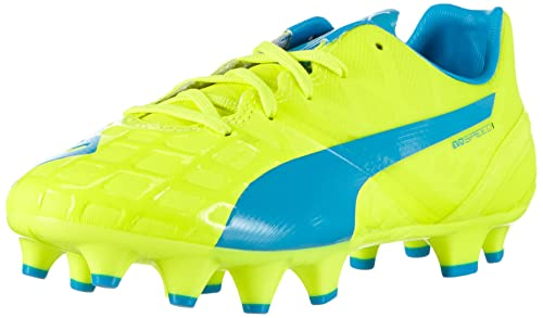 e263aa5eafb5 Puma evoSPEED 1.4 Firm Ground Jr, Unisex Kids' Football Training Shoes,  Yellow (