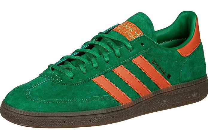 Adidas Spezial Sneakers grün mit orangen Streifen