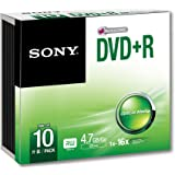 Sony DVD+R 4.7Gb 120 minutes Slim Case Pack of 10 10DPR47SS