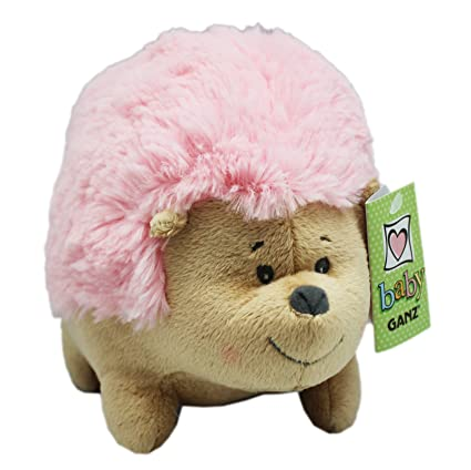 Amazon Com Roly Poly Hedgehog Plush Toy Light Pink By Ganz Toys
