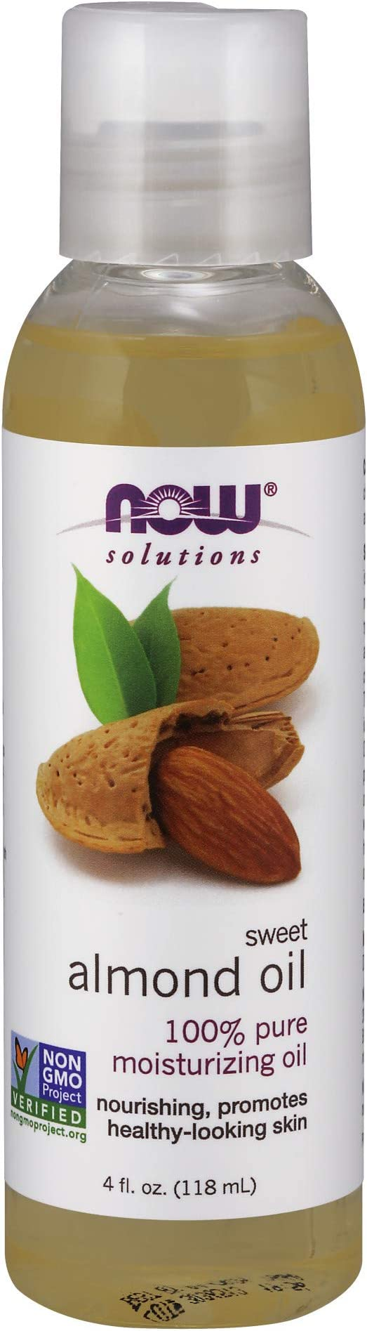 NOW Solutions, Sweet Almond Oil, 100% Pure Moisturizing Oil, Promotes Healthy-Looking Skin, Unscented Oil, 4-Ounce   Amazon