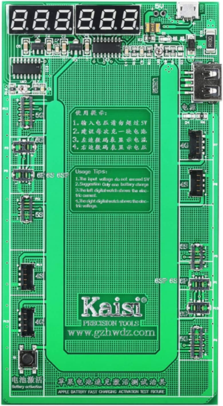 Kaisi 9201 iPhone Battery Tester Battery Charger and Activation Board Battery Repair Kit Compatible for iPhone 4 4s 5 5c 5s 6 6 Plus 6s 6s Plus 7 7 Plus