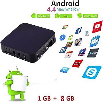 leshp Android 4.4 S805 Smart TV Box Quad Core Mali 450 GPU/WiFi/1920 x 1080 Pixeles/1GB DDR3 8 GB EMMC Flash: Amazon.es: Electrónica