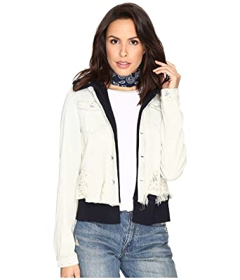 0c933bffde3 Free People Women s Double Weave Denim Jacket White X-Small at Amazon  Women s Coats Shop