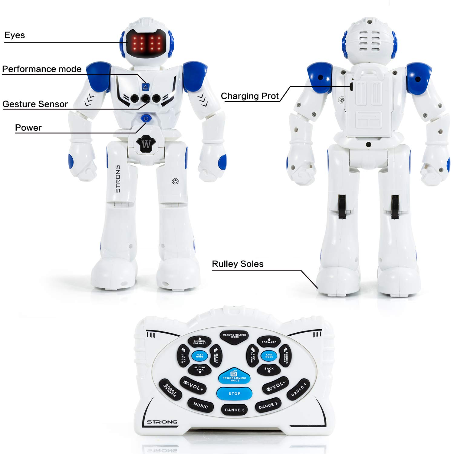 KINFAYV Smart Robot Toy - Remote Control Robot, RC Programmable Educational Robot for Kids Birthday Gift Present, Interactive Walking Singing Dancing Smart Intelligent Robotics for Kids by KINFAYV (Image #3)