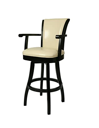 Charmant Pastel Furniture Glenwood 26u0026quot; Swivel Arm Counter Stool In Feher Black    Cream
