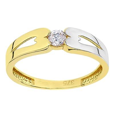 Citerna Women's 9 ct Yellow Gold Heart Ring MvM6t