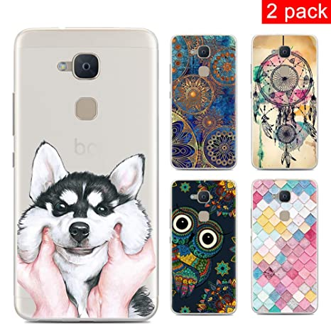 CARPURY [2 Pack Funda BQ Aquaris V Plus/BQ Aquaris VS Plus Fundas Carcasa Silicone Cartoon Painted Soft TPU Case Cover Carcasa for BQ Aquaris V ...