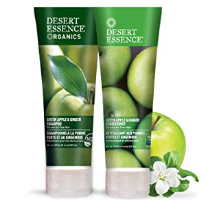 Desert Essence Green Apple & Ginger Shampoo & Conditioner Bundle - 8 Fl Ounce - Volume For Fine Hair - Natural - Deep Moisturizing - Antioxidants - Maca Root - Softer & Shinier - Smooth & Silky