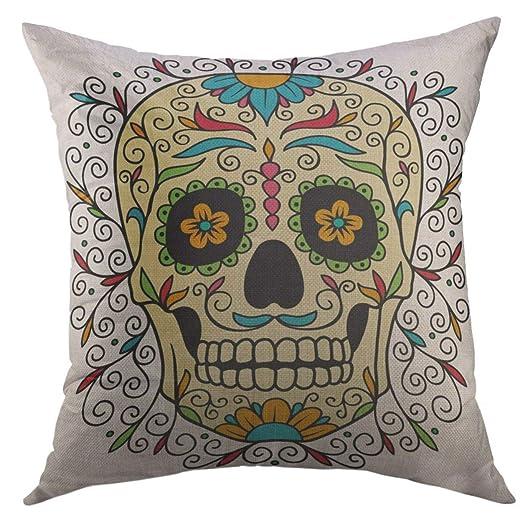 DDOBY Funda de Almohada Decorativa para sofá, Tatuaje Rojo ...