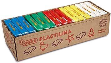 Jovi Caja de plastilina, 15 Pastillas 350 g, básicos, 3 x 5 Colores (72B): Amazon.es: Juguetes y juegos