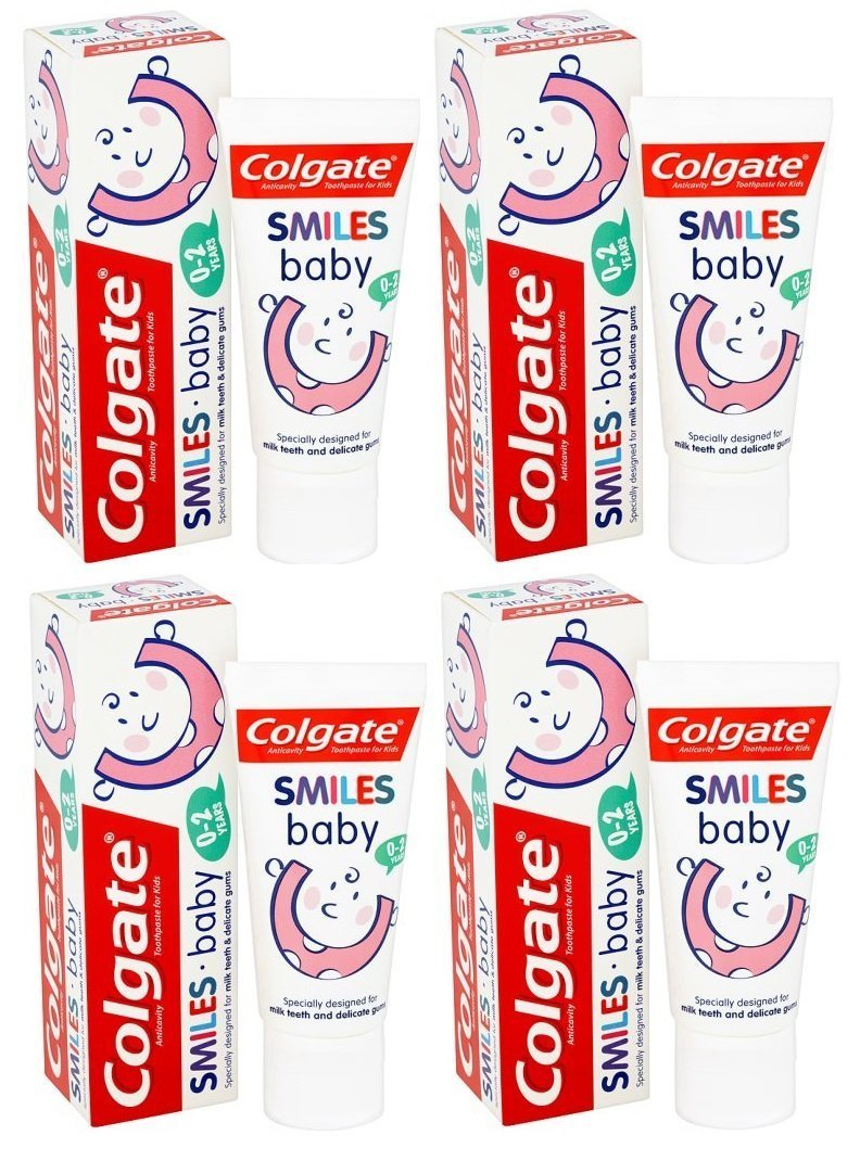 4x Colgate Smiles Baby 0 To 2 Year Old 50ml