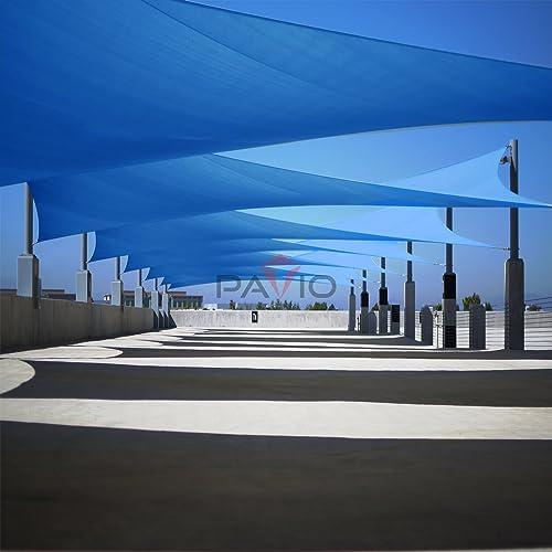 Patio Paradise 20' x 24' FT Blue Sun Shade Sail Rectangle Canopy