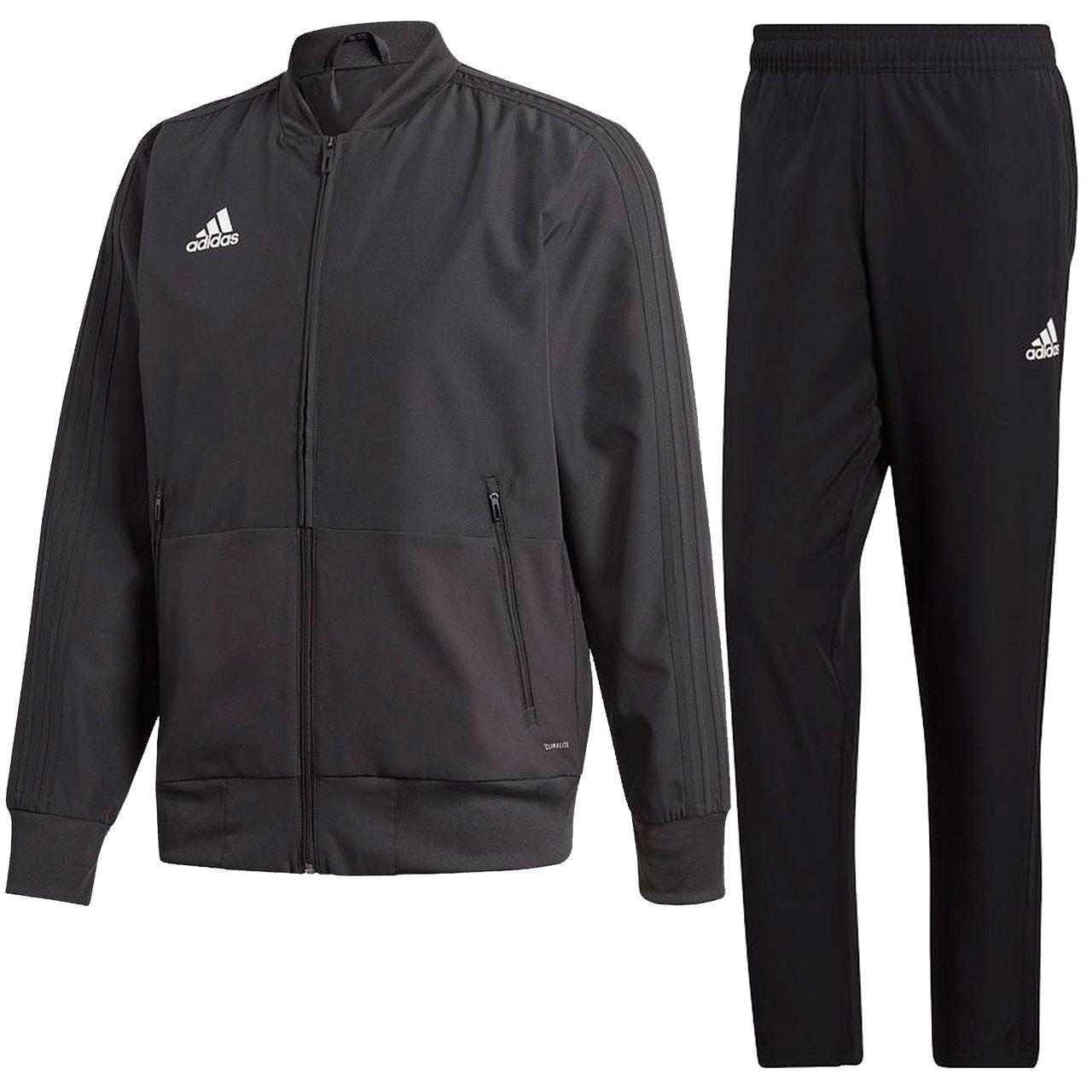 アディダス(adidas) CONDIVO18 プレゼンテーションジャケット & パンツ 上下セット(ブラック/ブラック) DJV60-CF4305-DJV28-CF4316 B079JH5CHR 日本 J/S-(日本サイズS相当)|ブラック/ブラック ブラック/ブラック 日本 J/S-(日本サイズS相当)