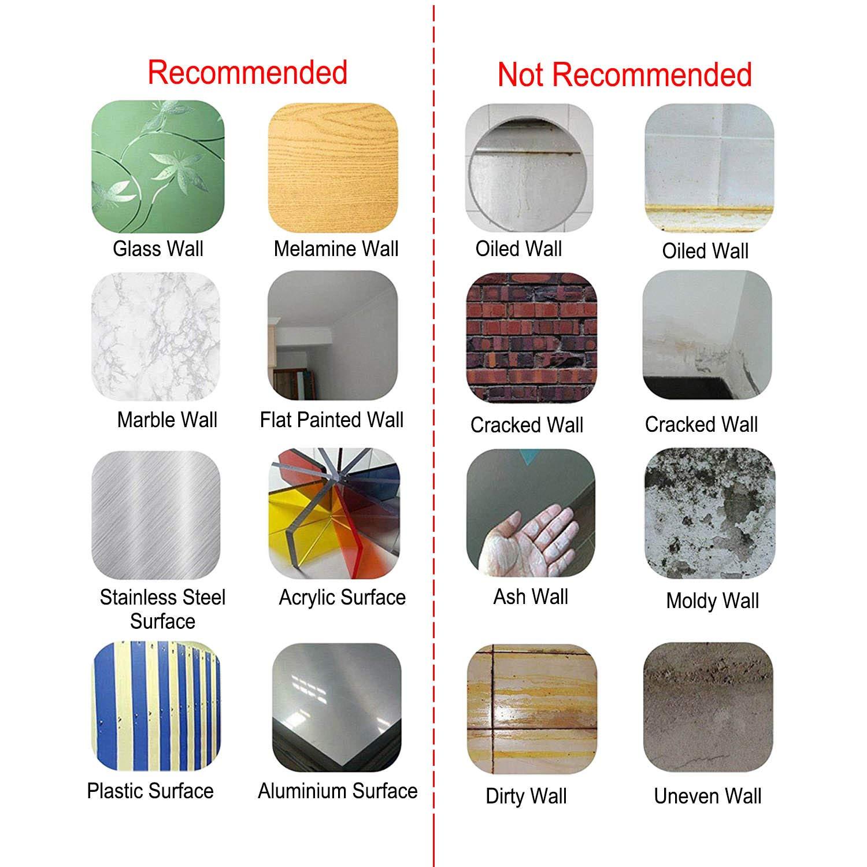 "Carrara Marble Backsplash,HONJAN Renters Groutless Removable Adhesive White Hexagon Vinyl Backsplash for Kitchen Bathroom 10""x10"" Pack of 13 (A) by HONJAN (Image #4)"