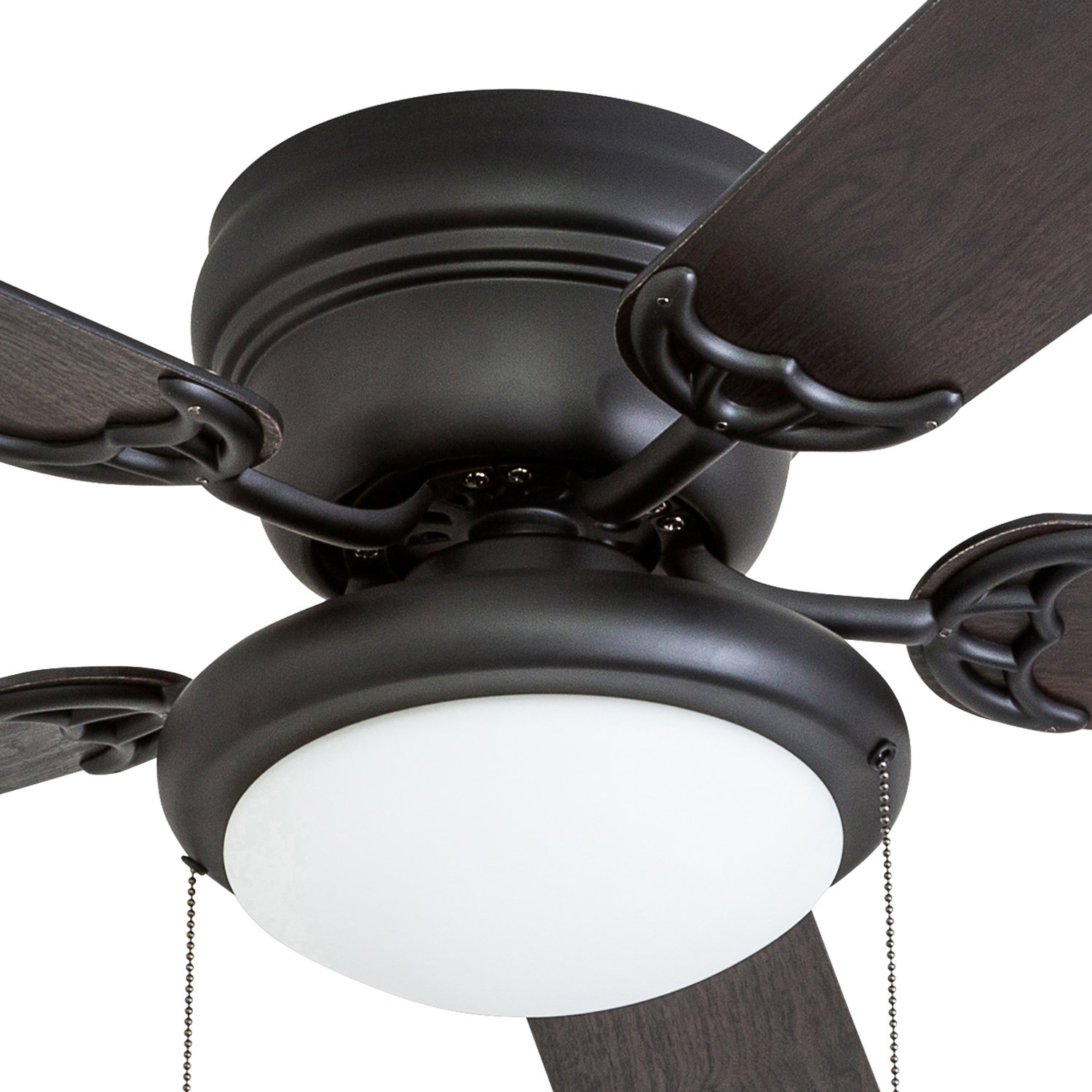 Portage Bay 50251 Hugger 52'' Matte Black West Hill Ceiling Fan with Bowl Light Kit by Portage Bay (Image #3)