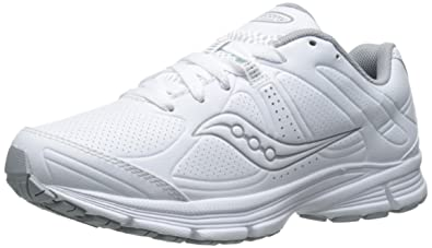 Saucony Women's Grid Momentum Walking Shoe, White/Grey, ...