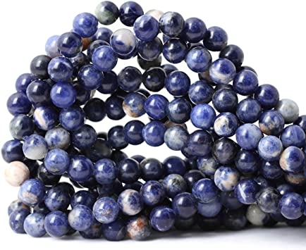 Pcs Gemstones DIY Jewellery Making Crafts Sodalite Round Beads 8mm Blue 45