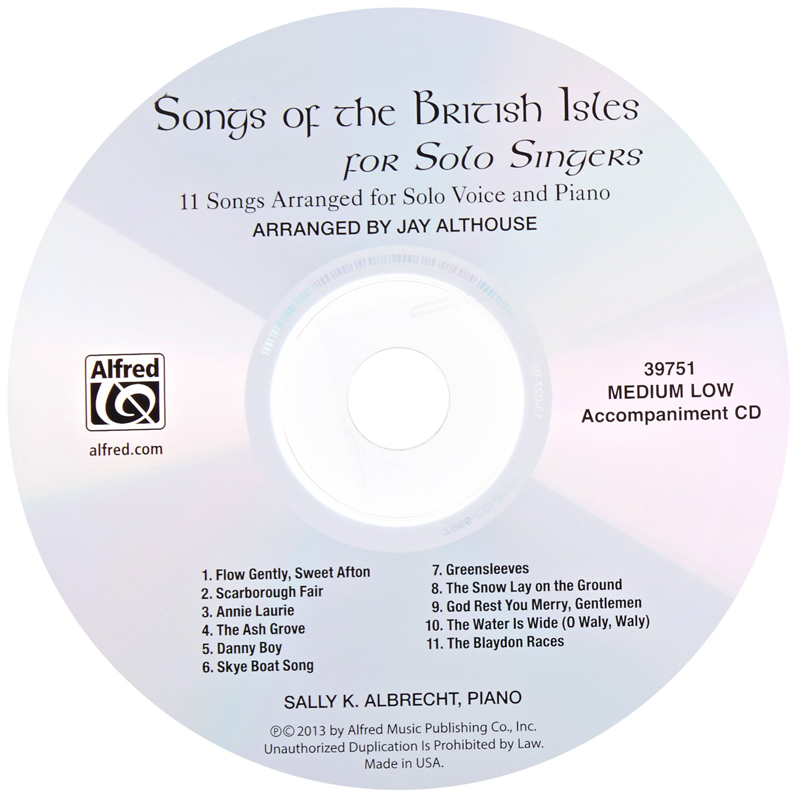 Songs of the British Isles for Solo Singers: 11 Songs