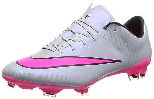 more photos 2e66f c71b8 Nike Mercurial Vapor X Fg, Men S Football Training Shoes, Grey (Grey Pink