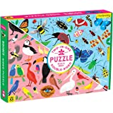 """Mudpuppy Bugs and Birds Double-Sided Puzzle, 100 Pieces, 22"""" x 16.5"""" – Perfect Family Puzzle for Ages 6+ - Colorful…"""