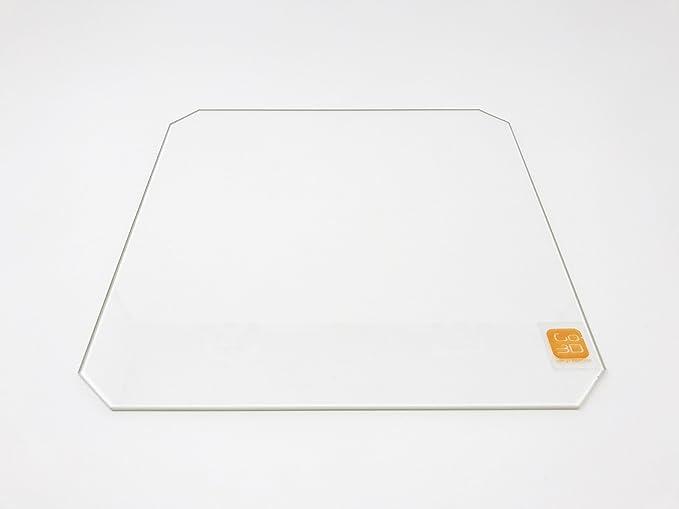 GO-3D PRINT 300 mm x 300 mm placa de vidrio de borosilicato/cama ...